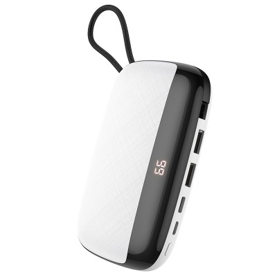 Power Bank Hoco S29 Nimble mobile power 10000mAh (с кабелем MicroUSB) White