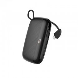Power Bank Hoco S29 Nimble mobile power 10000mAh (с кабелем Type-C) Black