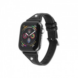 Kожаный ремешок Hoco WB05 Ocean wave для Apple Watch Series 1/2/3/4 (38/40mm) Black