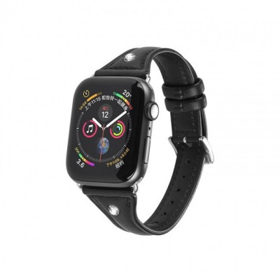 Kожаный ремешок Hoco WB05 Ocean wave для Apple Watch Series 1/2/3/4 (38/40mm) Black