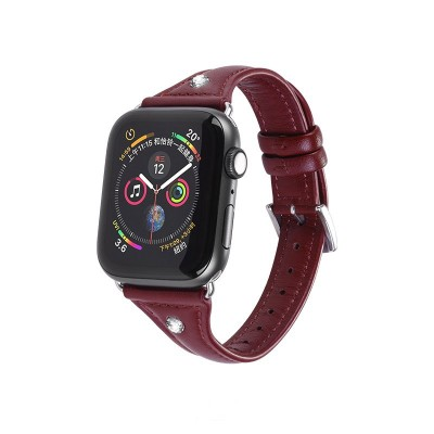 Kожаный ремешок Hoco WB05 Ocean wave для Apple Watch Series 1/2/3/4 (42/44mm) Red