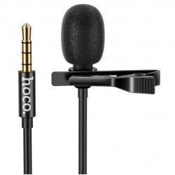 Микрофон петличный Hoco DI02 Clip microphone для телефона, камеры AUX (3.5mm) 2m Black