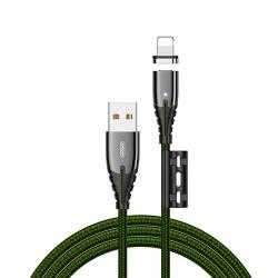 Кабель Joyroom S-M408 Magnetic Series Lightning 1.2m Green