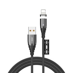 Кабель Joyroom S-M408 Magnetic Series Lightning 1.2m Black