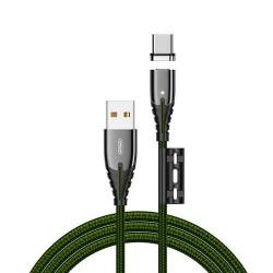 Кабель Joyroom S-M408 Magnetic Series Type-C 1.2m Green