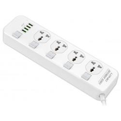 Сетевой удлинитель Ldnio SC4408 Port Multi Plug Extension Cord with 4-USB Outlets White