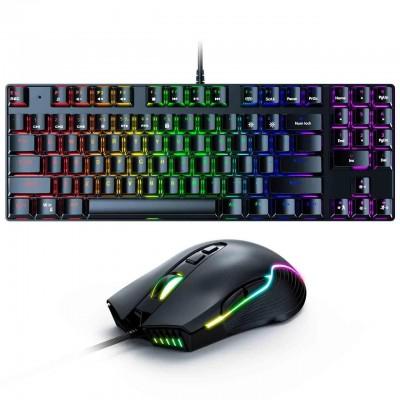 Игровой комплект для ПК 2 в 1 (клавиатура, мышь) Onikuma G26 + CW905 с подсветкой Black