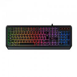 Игровая клавиатура с подсветкой Meetion MT-K9320 проводная с USB Rainbow Backlit Gaming Keyobard RUS Black