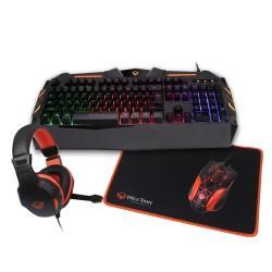 Игровой комплект для ПК 4 в 1 (клавиатура, мышь, наушники, коврик) Meetion MT-C500 с подсветкой