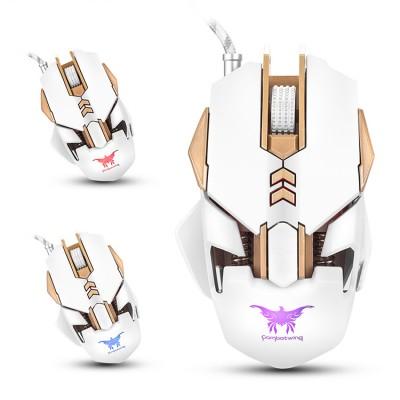 Игровая проводная мышь механическая Onikuma Combatwing CW30 Wired Backlit Mechanical Gaming Mouse USB White
