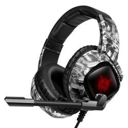 Игровые наушники с микрофоном Onikuma K19 Camouflage grey