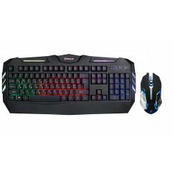 Игровой комплект для ПК 2 в 1 (клавиатура и мышь) REAL-EL Gaming 9500 Kit Backlit USB RUS с подсветкой Black