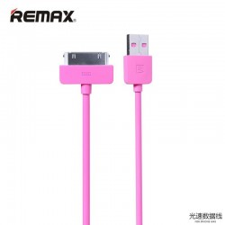 Кабель Remax Light round для iPhone 4 1M Pink