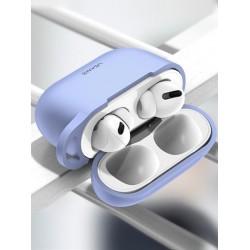 Чехол для Apple Airpods Pro с карабином Usams US-BH568 Silicone Protective Cover Purple