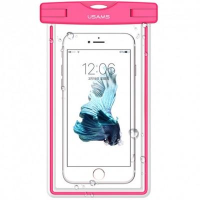 Водонепроницаемый чехол для смартфонов (до 5,5 дюймов) Usams US-YD001 Luminous Waterproof Pink