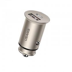 Автомобильное зарядное устройство Usams US-CC097 C15 (QC4.0+PD3.0) Fast Charging Silver