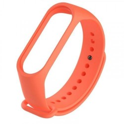 Силиконовый ремешок для фитнес браслета Xiaomi Mi Band 5 Orange