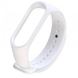 Силиконовый ремешок для фитнес браслета Xiaomi Mi Band 5 и 6 White