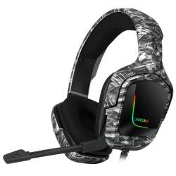 Наушники игровые Onikuma K20 с микрофоном Camouflage grey