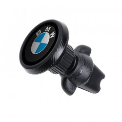 Магнитный держатель для телефона в авто на дефлектор Magnetic Phone Bracket с логотипом BMW Черный