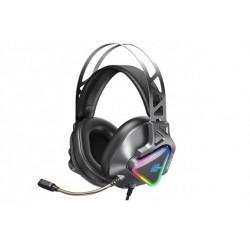 Игровые наушники для ПК с микрофоном проводные Remax RM-810 Wargod Series Gaming Headphone (USB, 7.1) Grey