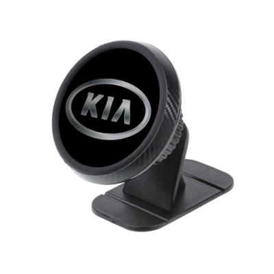 Магнитный держатель для телефона в авто на торпедо Magnetic Phone Bracket с логотипом KIA Черный
