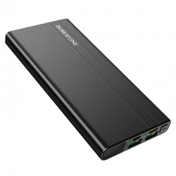 Power Bank Borofone BT34 Velocity 10000mAh (2USB, 1Type-C, PD, QC3.0, 18W, 3A) Black