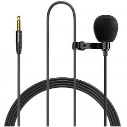 Микрофон петличный Awei MK1 Clipper microphone для телефона, камеры AUX (3.5mm) 3m Black