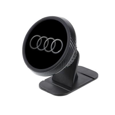 Магнитный держатель для телефона в авто на торпедо Magnetic Phone Bracket с логотипом Audi Черный