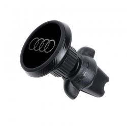 Магнитный держатель для телефона в авто на дефлектор Magnetic Phone Bracket с логотипом Audi Черный