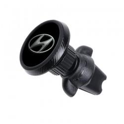 Магнитный держатель для телефона в авто на дефлектор Magnetic Phone Bracket с логотипом Hyundai Черный