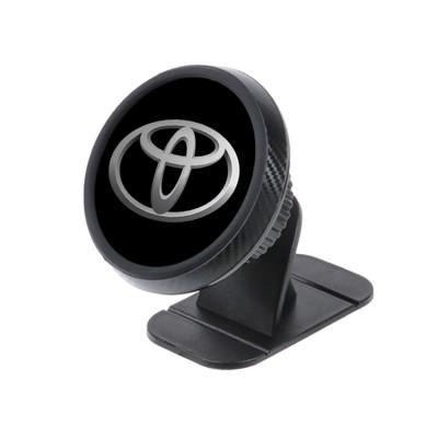 Магнитный держатель для телефона в авто на торпедо Magnetic Phone Bracket с логотипом Toyota Черный