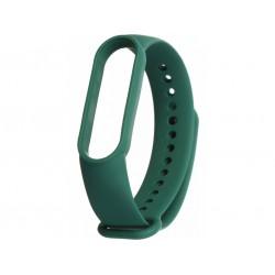 Силиконовый ремешок для фитнес браслета Xiaomi Mi Band 5 Forest Green