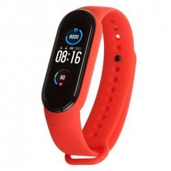 Силиконовый ремешок для фитнес браслета Xiaomi Mi Band 5 Red