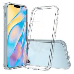 Силиконовый противоударный (с усиленными углами) чехол-бампер для Apple iPhone 12 Прозрачный