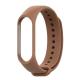 Силиконовый ремешок для фитнес браслета Xiaomi Mi Band 3/4 Brown