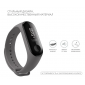 Силиконовый ремешок для фитнес браслета Xiaomi Mi Band 3/4 Dark Grey