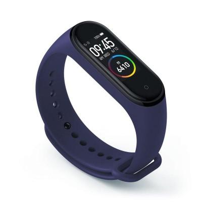 Силиконовый ремешок для фитнес браслета Xiaomi Mi Band 3/4 Midnight Blue