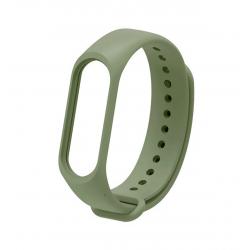 Силиконовый ремешок для фитнес браслета Xiaomi Mi Band 3/4 Olive