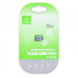 Карта памяти Micro SDHC Card Usams US-ZB094 TF High Speed Card 32Gb Class 10