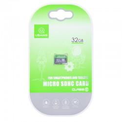 Карта памяти Micro SDHC Card Usams US-ZB094 TF High Speed Card 32Gb Class 10