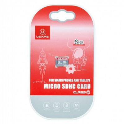 Карта памяти Micro SDHC Card Usams US-ZB092 TF High Speed Card 8Gb Class 10