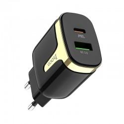 Сетевое зарядное устройство Hoco C79A Zeus PD+QC3.0 charger Black
