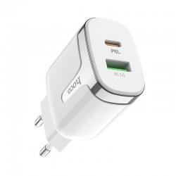 Сетевое зарядное устройство Hoco C79A Zeus PD+QC3.0 charger White