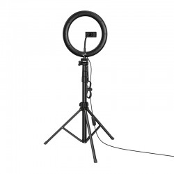 Кольцевая LED-лампа для блоггеров с подставкой и держателями Hoco LV02 Aesthetic Black