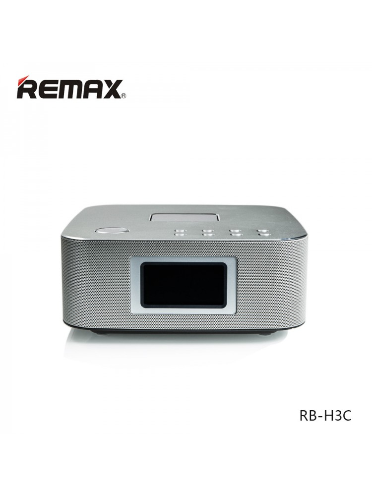 Bluetooth Колонка Remax RB-H3 3 in 1 BT3.0 Speaker with Alarm Clock Silver 3-00134_2